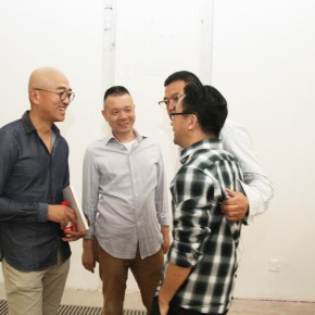 11 Li Di the first on the right and Li Tianyuan the first on the left 290x290 - Crusader–Li Di's New Works on Paper Debuted at the White Box Art Center