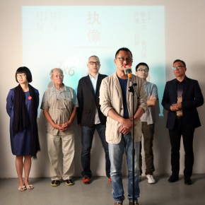 "12 Curator Wang Chuan spoke at the opening ceremony 290x290 - Chinese Contemporary Photographic Exhibition ""The Persistence of Images: 2×6"" Opening at Redtory in Guangzhou"