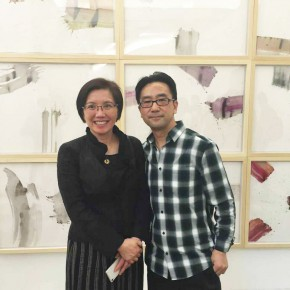 14 Cao Xingyuan Director of Zhu Naizheng Research Center Deputy Director of Qinghai Art Museum and the artist Li Di 290x290 - Crusader–Li Di's New Works on Paper Debuted at the White Box Art Center