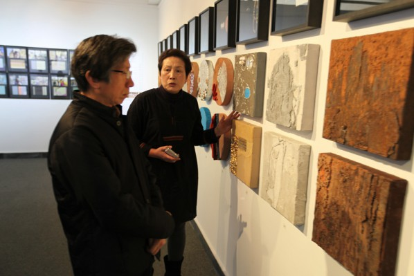 14 Fan Di'an, President of CAFA visited the exhibition