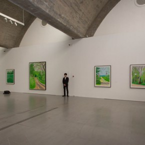 17 Exhibition View of David Hockney The Arrival of Spring 290x290 - iPad drawings and video installations by David Hockney stir the spring of Beijing