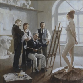 18 Ren Zhizhong Lin Fengmian Studied at Cormon Studio in écolenationalesupérieure des Beaux arts de Paris 200 x 200 cm 290x290 - Fengmian's 100 Years–Lin Fengmian's Life Show Inaugurated at MCACAA
