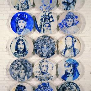 19 Kang Lei Blue and–White –Traditional Opera Stars tempera diameter 50 cm x 15 pieces 2008 290x290 - Kang Lei