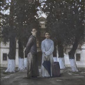 21 Weng Danxian Lin Fengmian and His Teacher Liang Bocong 200 x 200 cm 290x290 - Fengmian's 100 Years–Lin Fengmian's Life Show Inaugurated at MCACAA