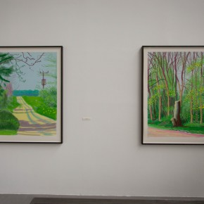 25 Exhibition View of David Hockney The Arrival of Spring 290x290 - iPad drawings and video installations by David Hockney stir the spring of Beijing