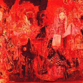 25 Kang Lei The Red Series No.2 – The Hustle and Hustle 200 x 280 cm 290x290 - Kang Lei