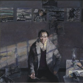 28 Yang Canjun Lin Fengmian was Painting in Chongqing in Seclusion 180 x 180 cm 180 x 180 cm 290x290 - Fengmian's 100 Years–Lin Fengmian's Life Show Inaugurated at MCACAA