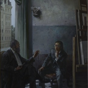 29 Yin Xiong Li Gen 'Lin Fengmian Listened to the Suggestion of His Teacher Yencesse' 240 x 160 cm 290x290 - Fengmian's 100 Years–Lin Fengmian's Life Show Inaugurated at MCACAA