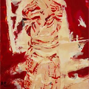36 Kang Lei, The Tajik Girl, tempera, 80 x 40 cm, 2012
