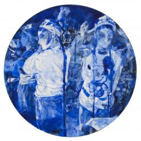 46 Kang Lei, Spatial Essay No.3, tempera, diameter 50 cm, 2013