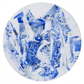 47 Kang Lei, Spatial Essay No.2, tempera, diameter 50 cm, 2013