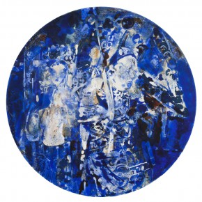 48 Kang Lei, Spatial Essay No.1, tempera, diameter 50 cm, 2013
