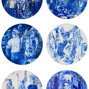 49 Kang Lei, Spatial Essay Series, tempera, diameter 50 cm, 2013