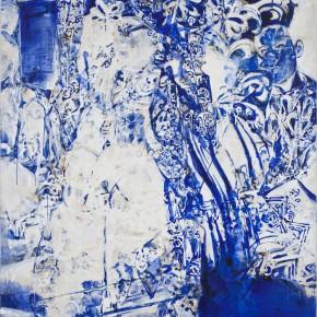 54 Kang Lei, Distance No.2, tempera, 200 x 140 cm, 2013