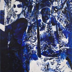 55 Kang Lei, Distance No.1, tempera, 200 x 140 cm, 2013