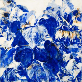 56 Kang Lei, The Songs among Flowers No.6, tempera, 60 x 60 cm, 2014