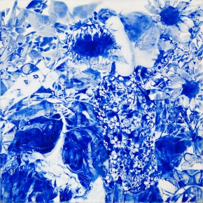 59 Kang Lei, The Songs among Flowers No.3, tempera, 60 x 60 cm, 2014