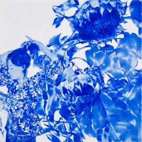 61 Kang Lei, The Songs among Flowers No.1, tempera, 60 x 60 cm, 2014