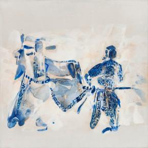 62 Kang Lei, Trace No.6, tempera, 40 x 40 cm, 2013
