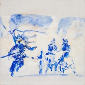63 Kang Lei, Trace No.3, tempera, 40 x 40 cm, 2013