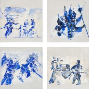 65 Kang Lei, Trace Series, tempera, 40 x 40 cm x 8, 2013