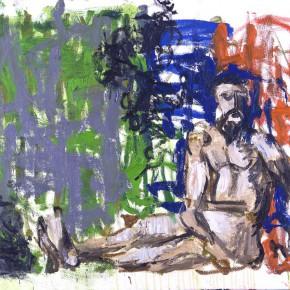 Markus Lüpertz After Marées – Gray Veil 2002 Oil on canvas 100x81cm 290x290 - Exhibition of recent works by Markus Lüpertz opens April 25 at the Times Art Museum in Beijing