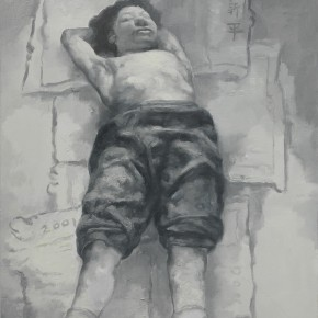 "Su Xinping,Dreamer Practice 02, 2001 Oil on canvas 80×60cm 290x290 - The exhibition ""Su Xinping's Painting Diary"" was unveiled at K. Gallery in Chengdu"