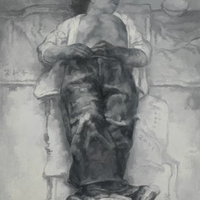 Su Xinping, Dreamer Practice 01, 2001; Oil on canvas, 80×60cm