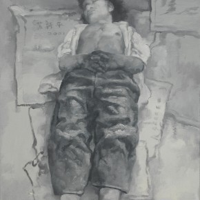 Su Xinping, Dreamer Practice 03, 2002; Oil on canvas, 80×60cm