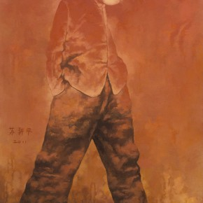 "Su Xinping The Man Looking Back 2011 Oil on canvas 180×120cm 290x290 - The exhibition ""Su Xinping's Painting Diary"" was unveiled at K. Gallery in Chengdu"