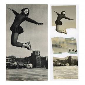 """Zhang Dali The Harbin Ice skating Athlete Li Jianhua70x70cm1 290x290 - Multiple Possibilities of Digital Age–""""The Persistence of Images: 2×6"""" Season I Inaugurated in Guangzhou"""