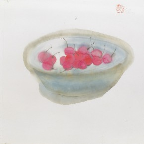 02 Peng Xiancheng The Cherry Blossom 29.5 x 24 cm 1998 290x290 - The Sinuous Grace of Ink 1990-2014 – Peng Xiancheng Solo Exhibition opens in Taiwan