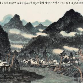 03 Cui Xiaodong Rain of Bashan Mountain at Night 96 x 59 cm 2014 290x290 - Cui Xiaodong