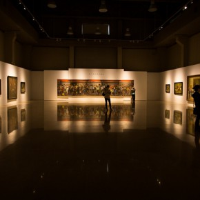 """03 Installation view of """"Shang Ding Oil Painting Exhibition"""" 290x290 - Shang Ding Oil Painting Exhibition Opened at Chinese Academy of Oil Painting"""