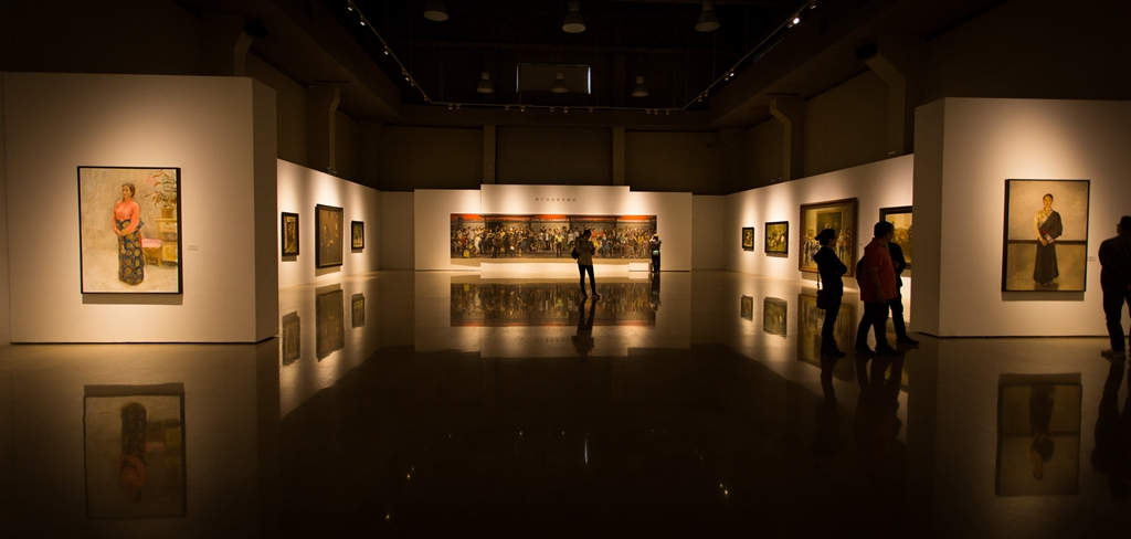 D Painting Exhibition : Shang ding oil painting exhibition opened at chinese