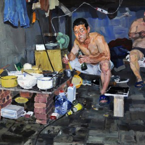 03 Zhang Liming At Noon oil painting 120 x 160 cm 2014 290x290 - Pursuit of the Sublimation of the Mind – Guo Hua and Zhang Liming Oil Painting Exhibition at the Chinese Academy of Oil Painting
