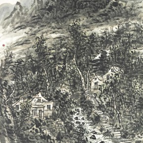04 Cui Zhenkuan Mountain Villas in Taihang Mountains 174.5 x 135 cm 2013 290x290 - Mountains in Meditating – Cui Zhenkuan Chinese Painting Exhibition Opening at the National Art Museum of China