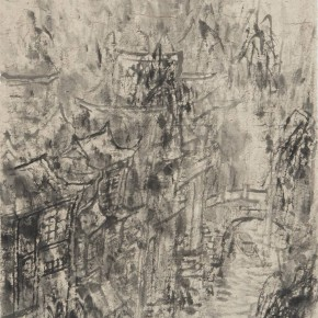 05 Cui Zhenkuan The Waterside with Misty Drizzle 144.5 x 75 cm 2010 290x290 - Mountains in Meditating – Cui Zhenkuan Chinese Painting Exhibition Opening at the National Art Museum of China