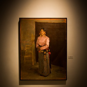 """05 Installation view of """"Shang Ding Oil Painting Exhibition"""" 290x290 - Shang Ding Oil Painting Exhibition Opened at Chinese Academy of Oil Painting"""