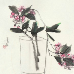 05 Peng Xiancheng A Vase of Flowers 35 x 30 cm 2008 290x290 - The Sinuous Grace of Ink 1990-2014 – Peng Xiancheng Solo Exhibition opens in Taiwan