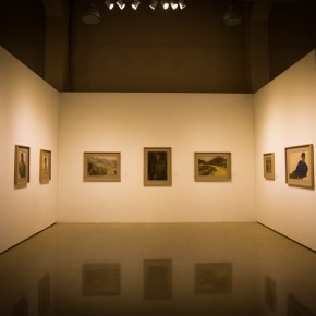 """06 Installation view of """"Shang Ding Oil Painting Exhibition"""" 290x290 - Shang Ding Oil Painting Exhibition Opened at Chinese Academy of Oil Painting"""