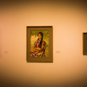 """07 Installation view of """"Shang Ding Oil Painting Exhibition"""" 290x290 - Shang Ding Oil Painting Exhibition Opened at Chinese Academy of Oil Painting"""