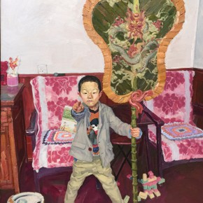07 Zhang Liming Palm Leaf Fan oil painting 120 x 150 cm 2014 290x290 - Pursuit of the Sublimation of the Mind – Guo Hua and Zhang Liming Oil Painting Exhibition at the Chinese Academy of Oil Painting