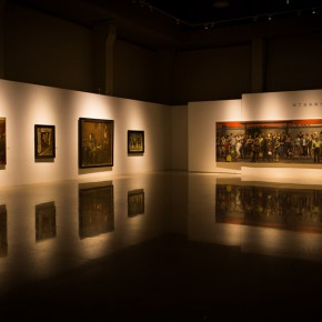 """08 Installation view of """"Shang Ding Oil Painting Exhibition"""" 290x290 - Shang Ding Oil Painting Exhibition Opened at Chinese Academy of Oil Painting"""