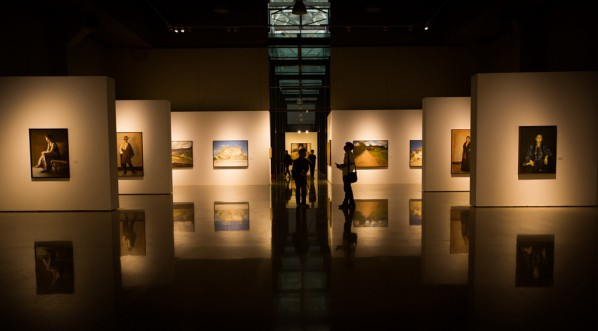 "09 Installation view of ""Shang Ding Oil Painting Exhibition"""
