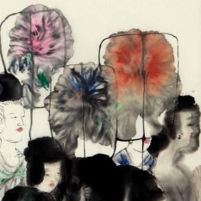 09 Peng Xiancheng Litchis Figure 122 x 34 cm 1998 290x290 - The Sinuous Grace of Ink 1990-2014 – Peng Xiancheng Solo Exhibition opens in Taiwan