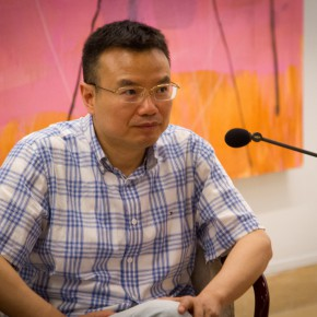 10 Host of the discussion Professor Peng Feng 290x290 - Oriental Abstraction VS Western Figuration Opened at National Art Museum of China