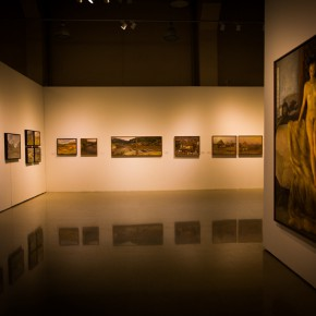"""10 Installation view of """"Shang Ding Oil Painting Exhibition"""" 290x290 - Shang Ding Oil Painting Exhibition Opened at Chinese Academy of Oil Painting"""