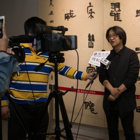 """11The opening ceremony of """"Round and Square Characters Lu Fusheng Chinese Calligraphy Art Exhibition"""" – Wu Hongliang Director of the Beijing Fine Art Academy was interviewed 290x290 - """"Lu Fusheng's Chinese Calligraphy Art Exhibition"""" Debuted and the """"Fusheng Font"""" Announced in Beijing"""