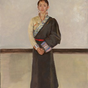 12 Shang Ding Standing Kang Zhou Cuo 290x290 - Shang Ding Oil Painting Exhibition Opened at Chinese Academy of Oil Painting